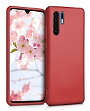 Huawei P30 Pro Mat Kırmızı Silikon Kılıf