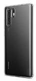 Huawei P30 Pro Ultra İnce Şeffaf Silikon Kılıf