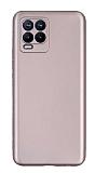 Realme 8 Pro Kamera Korumalı Mat Rose Gold Silikon Kılıf