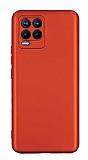 Realme 8 Pro Kamera Korumalı Mat Kırmızı Silikon Kılıf