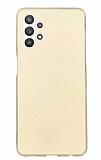 Samsung Galaxy A32 5G Mat Gold Silikon Kılıf