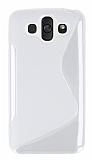 LG Aka Desenli Şeffaf Beyaz Silikon Kılıf