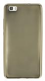 Huawei P8 Lite Metalik Gold Silikon Kılıf