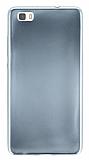 Huawei P8 Lite Metalik Silver Silikon Kılıf