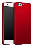 Huawei P8 Lite Tam Kenar Koruma Kırmızı Rubber Kılıf