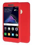 Huawei P9 Lite 2017 360 Derece Koruma Likit Kırmızı Silikon Kılıf