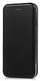Huawei P9 Lite 2017 Curve Manyetik Kapaklı Siyah Deri Kılıf