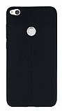 Huawei P9 Lite 2017 Deri Desenli Ultra İnce Siyah Silikon Kılıf