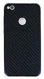 Eiroo Carbon Hybrid Huawei P9 Lite 2017 Lacivert Kenarlı Karbon Siyah Silikon Kılıf