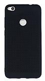 Huawei P9 Lite 2017 Noktalı Mat Siyah Silikon Kılıf