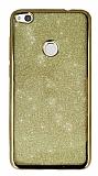 Huawei P9 Lite 2017 Simli Gold Silikon Kılıf