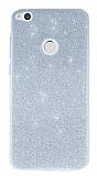 Huawei P9 Lite 2017 Simli Silver Silikon Kılıf