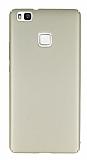 Huawei P9 Lite Tam Kenar Koruma Gold Rubber Kılıf