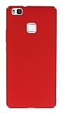 Huawei P9 Lite Tam Kenar Koruma Kırmızı Rubber Kılıf
