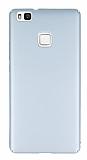 Huawei P9 Lite Tam Kenar Koruma Silver Rubber Kılıf