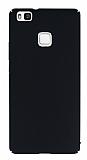 Huawei P9 Lite Tam Kenar Koruma Siyah Rubber Kılıf