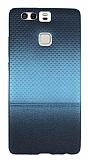 Huawei P9 Mavi Noktal� Ultra �nce Silikon K�l�f