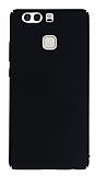 Huawei P9 Tam Kenar Koruma Siyah Rubber Kılıf