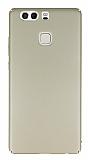 Huawei P9 Tam Kenar Koruma Gold Rubber Kılıf