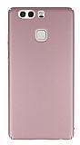 Huawei P9 Tam Kenar Koruma Rose Gold Rubber Kılıf