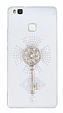 Huawei P9 Lite Taşlı Anahtar Şeffaf Silikon Kılıf