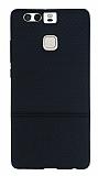 Huawei P9 Ultra �nce Noktal� Siyah Silikon K�l�f