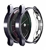 Huawei Watch GT 2 Pro Ekran Korumalı Dark Silver Silikon Kılıf