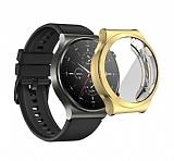 Huawei Watch GT 2 Pro Ekran Korumalı Gold Silikon Kılıf