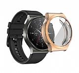 Huawei Watch GT 2 Pro Ekran Korumalı Rose Gold Silikon Kılıf