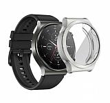 Huawei Watch GT 2 Pro Ekran Korumalı Silver Silikon Kılıf