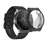 Huawei Watch GT 2 Pro Ekran Korumalı Siyah Silikon Kılıf
