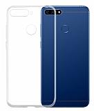 Huawei Y6 2018 Ultra İnce Şeffaf Silikon Kılıf