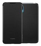 Huawei Y6 2019 Orjinal Siyah Flip Cover Kılıf