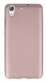 Huawei Y6 ii Mat Rose Gold Silikon Kılıf