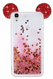 Huawei Y6 ii Sulu Taşlı Kulaklı Kırmızı Kılıf