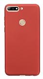 Huawei Y7 2018 Mat Kırmızı Silikon Kılıf
