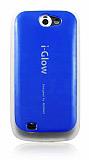 i-Glow Samsung i8150 Galaxy W Mavi Silikon Kılıf