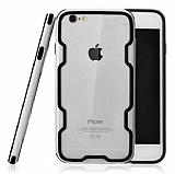 ICON iPhone 6 Plus / 6S Plus Silver Silikon Kenarlı Şeffaf Rubber Kılıf