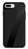 ICON iPhone 7 Plus Deri Siyah Rubber Kılıf