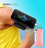 ICON Racer iPhone 7 Plus Kol Bandı Özellikli Ultra Koruma Pembe Kılıf