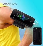 ICON Racer iPhone 7 Plus Kol Bandı Özellikli Ultra Koruma Siyah Kılıf