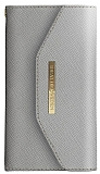 iDeal of Sweden Myfair Clutch iPhone 6 Plus / 6S Plus / 7 Plus / 8 Plus Light Grey Kılıf