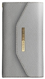 iDeal of Sweden Myfair Clutch iPhone X Light Grey Kılıf