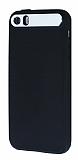 iFace iPhone 5 / 5S Kamera Korumal� Siyah Silikon K�l�f