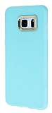 iFace Samsung Galaxy S6 Edge Plus Kamera Korumal� Mavi Silikon K�l�f