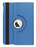 iPad 10.2 360 Derece Döner Standlı Mavi Deri Kılıf