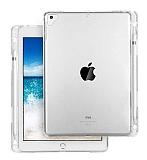 iPad 10.2 Kalemlikli Tablet Şeffaf Silikon Kılıf