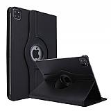iPad Pro 11 2020 360 Derece Döner Standlı Siyah Deri Kılıf