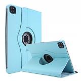 iPad Pro 11 2020 360 Derece Döner Standlı Mavi Deri Kılıf