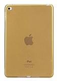 iPad 2 / 3 / 4 Şeffaf Gold Silikon Kılıf